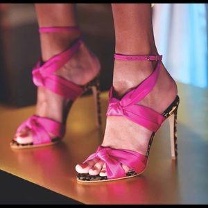 Sophia Webster violette satin high sandal